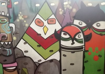 Graffiti painting mural